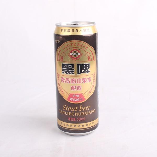 商品名称: 500ml青岛黑啤 国际条码:6922155901602 原料和辅料:崂山